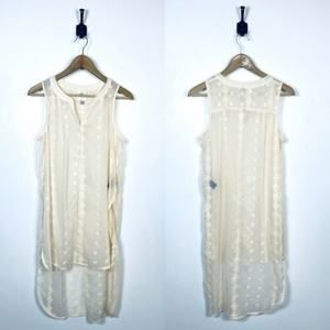 Knox Rose Small Boho Long Button Front Vest